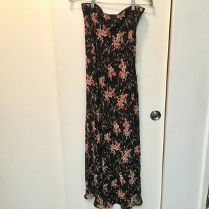 NWT Floral Maxi skirt.  small Black, green, pink